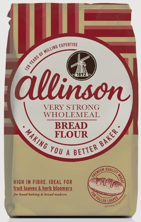 Allinson Very Strong Wholemeal Bread Flour Contains 100 Of The Wheat Grain Keeping All The Natural Nutrients The Resulting Flour Contains Significant